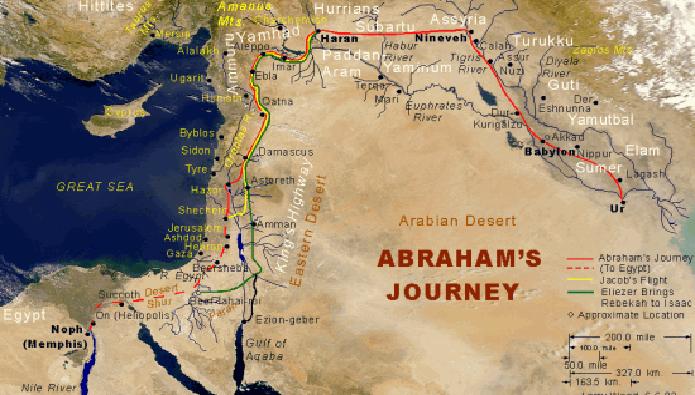 Image of Abraham's Journey on God's command