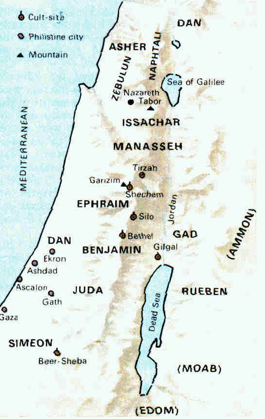 Fig 1.5. Twelve Tribes of Israel.