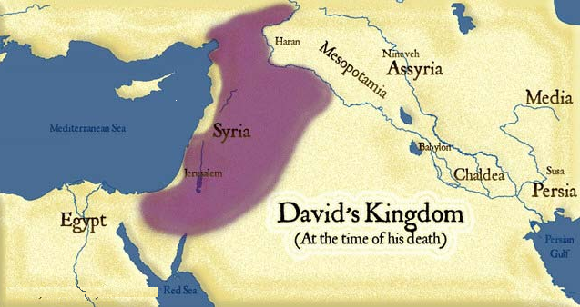 Fig 1.7. King David's Kingdom.