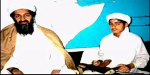 Al-Qaeda terrorist Osama bin Laden and his son, Hamza (no date)